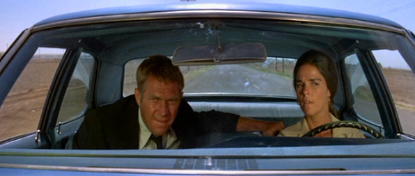 Steve McQueen i The Getaway (Sam Peckinpah 1972).